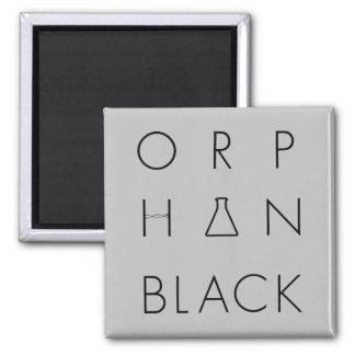 孤児の黒|のロゴの格子 マグネット