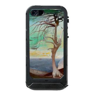 孤独なヒマラヤスギ木の風景画 ウォータープルーフiPhone SE/5/5sケース