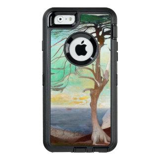 孤独なヒマラヤスギ木の風景画 オッターボックスディフェンダーiPhoneケース