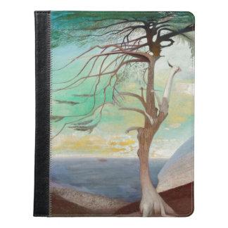 孤独なヒマラヤスギ木の風景画 iPadケース