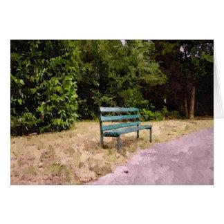 孤独な公園のベンチ カード