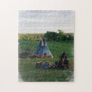 孤独な原産のアメリカインディアン ジグソーパズル