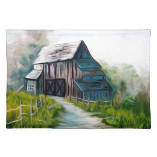 孤独な木の納屋 ランチョンマット