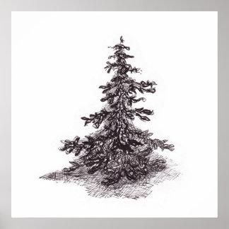 孤独な松の木 ポスター