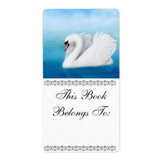 孤独な白鳥の蔵書票 ラベル