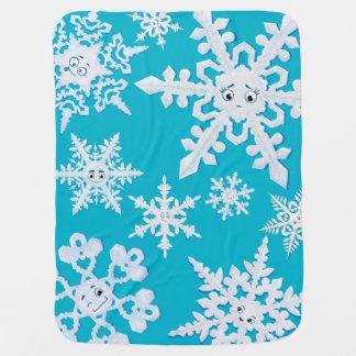 孤独な雪片毛布 ベビー ブランケット