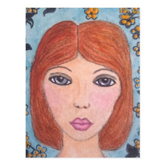 孤独の女の子 ポストカード