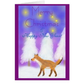 孤、星及び冬の不思議の国とのクリスマス カード