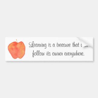 学ぶことは宝物…です バンパーステッカー