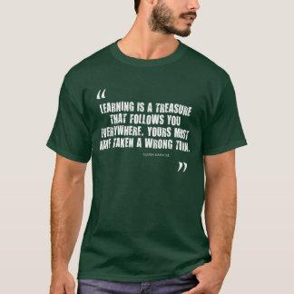 学ぶことは宝物(侮辱)です。 珍しいギフト Tシャツ