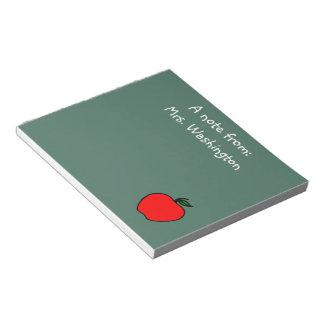 学校のカスタムな先生の黒板のメモ帳のノート ノートパッド