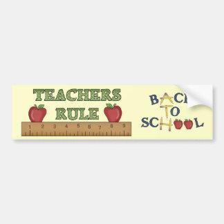 学校のテーマの先生の規則のおもしろいのバンパーステッカー バンパーステッカー