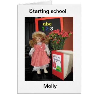 学校のモーリーの開始 グリーティングカード