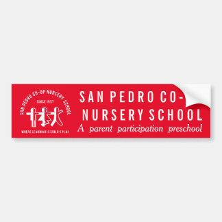 学校のロゴおよびスローガンの豊富で赤いステッカー バンパーステッカー