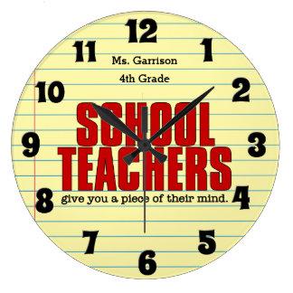 学校の先生のためのおもしろいな柱時計 ラージ壁時計
