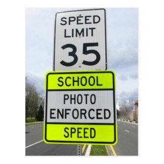 学校の地帯の制限速度 ポストカード
