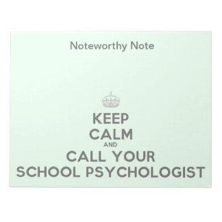 学校の心理学者からの顕著なノート ノートパッド