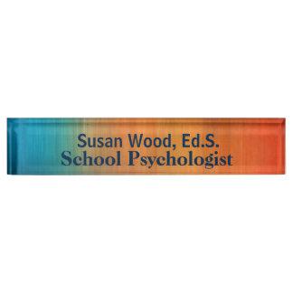 学校の心理学者のはっきりしたな銅の効果のネームプレート デスクネームプレート