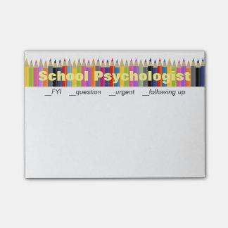 学校の心理学者のフォローアップのポスト・イット ポストイット