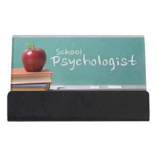 学校の心理学者のヴィンテージの名刺入れ デスク名刺ホルダー