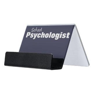 学校の心理学者の名刺入れ デスク名刺ホルダー