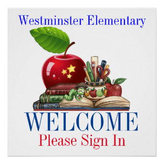 学校の歓迎- SRF ポスター