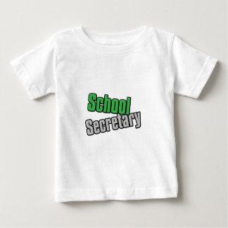 学校の秘書Greenおよび灰色のプリント ベビーTシャツ