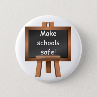 学校を安全にさせて下さい! デザイン3 缶バッジ
