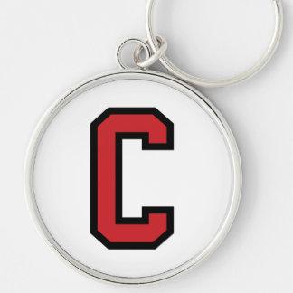 学校代表のスポーツ|の手紙C |の赤い黒 キーホルダー