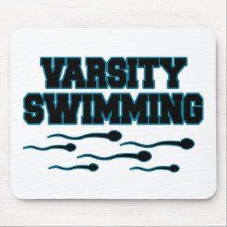 学校代表の水泳 マウスパッド