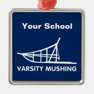 学校代表Mushing メタルオーナメント