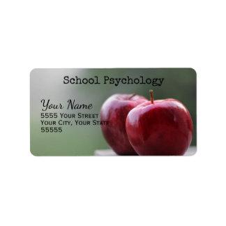 学校心理学のカスタムの宛名ラベル 宛名ラベル
