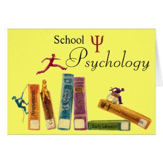 学校心理学のメッセージカード ノートカード