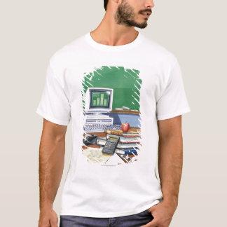 学校教師の机色の項目 Tシャツ