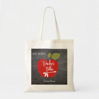 学校教師の種族|の赤いりんごの黒板の生徒 トートバッグ