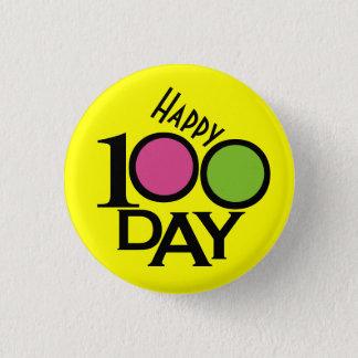 学校教師100日ボタン- SRF 3.2CM 丸型バッジ