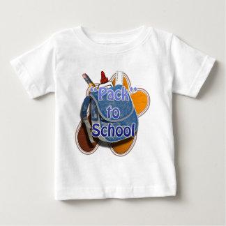 学校2へのパック ベビーTシャツ