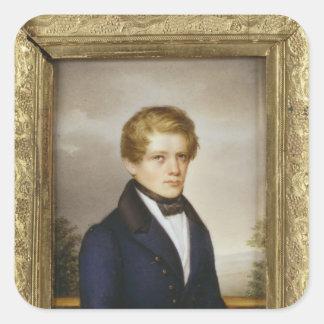 学生としてオットー・フォン・ビスマルク、1833年 スクエアシール