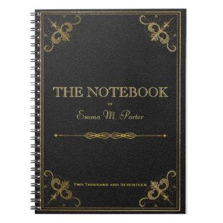 学生の革本の学校のノート ノートブック