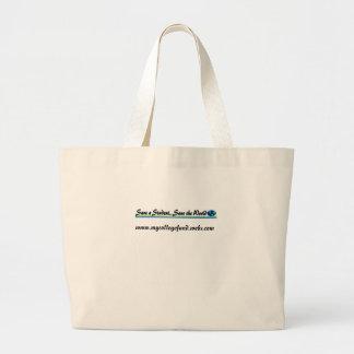 学生の…保存を世界救って下さい ラージトートバッグ