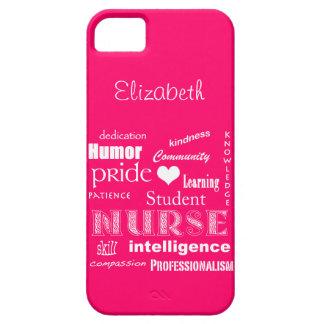 学生ナースのプライド属性の/Vibrantのピンク iPhone SE/5/5s ケース