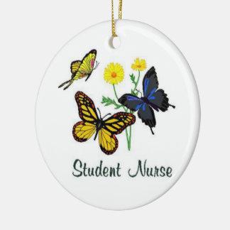 学生ナースの蝶 セラミックオーナメント