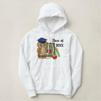 学者のフクロウ20XX -カスタマイズ 刺繍入りパーカ