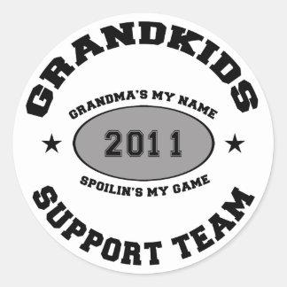 孫の支援チームの祖母2011年 ラウンドシール