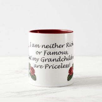 孫は貴重です ツートーンマグカップ