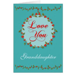 孫娘のための敏感なバレンタインのハートのつる植物 カード