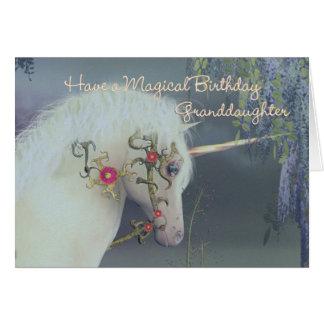 孫娘のユニコーンのバースデー・カード魔法のBirthd カード