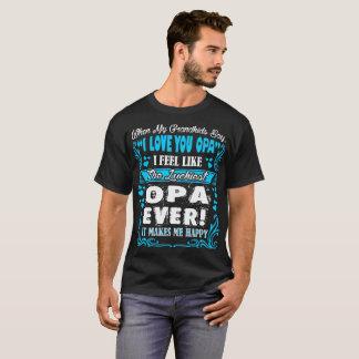 孫I愛Opaの最も幸運なTシャツ Tシャツ