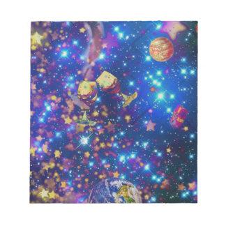 宇宙および惑星はtost.pnの生命を祝います ノートパッド