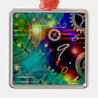 宇宙および時間の空想科学小説 メタルオーナメント